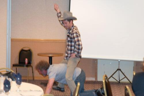 Mark and Andrew dedicate themselves to salesmanship during the NAA Auction