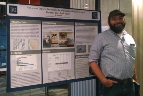 R.P. Cromwell; Poster session; photo by Christina Callisto