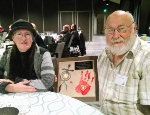 Ting-Perkins Award winners Ken and Karen Hopple; photo by Christina Callisto
